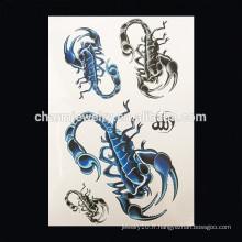 OEM Wholesale Scorpion tatouage homme tatouage temporaire tatouage épaule tatouage temporaire W-1019