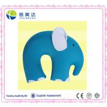 Elefante azul em forma de U travesseiro