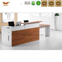 Morden Office Reception Desk Wooden Front Desk Office Furniture (HY-Q48)