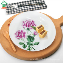 Peony Lace barato porcelana platos de cena