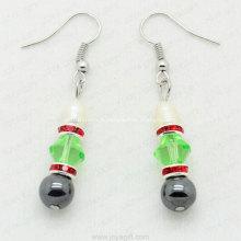 Produits uniques de bijoux de boucle d'oreille ronde d'hématite de 8mm de Chine