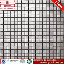 design de loja Telha de mosaico de aço inoxidável prata