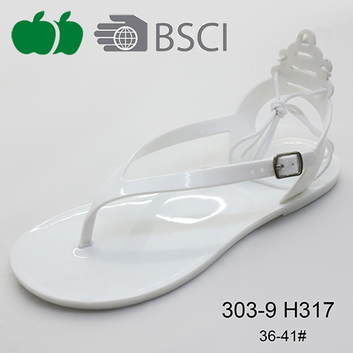 fashion simple ladies jelly sandals