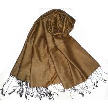 Classic de dos tonos de color 60% de seda 40% de seda de acrílico mantón
