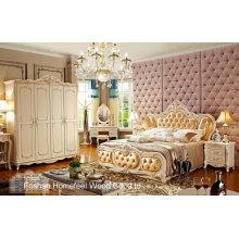 Ensemble classique de meubles de chambre à coucher en bois (HF-MG821)