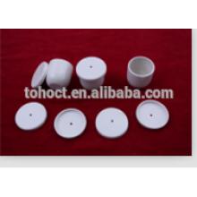Crisol de alúmina de porcelana cerámica con orificio