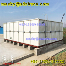 Quality guarantee 100m3 GRP panel water storage tank for portable water