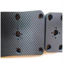 La fibre de carbone solide couvre la finition mate de peinture