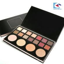Luxo personalizado logotipo preto papelão sombra paleta comestics kits