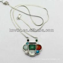 Lady luxe bijoux en diamant 925 collier en argent sterling fait en Chine