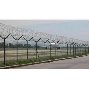 Flughafenzaun oder Sicherheitsschutznetzwerk