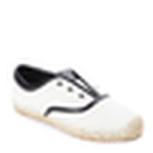 Off white&Black Espadrille flats canvas upper rubber sole jute shoes