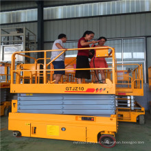 Plataforma de tijera autopropulsada Qyjz-14k de 14 m