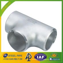 ASME B16.9 em aço inoxidável reta Tee