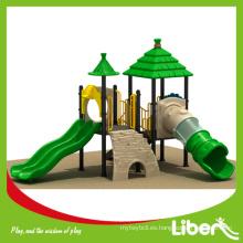 Plantas de plástico de dos plataformas House Roof Mini Park para niños y estudiantes de Shcool