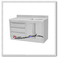 S314 1.2m Single Sink Bench With Drawers and Cabinet