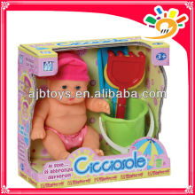 Lovely baby doll real baby dolls skin discolored summer beach doll