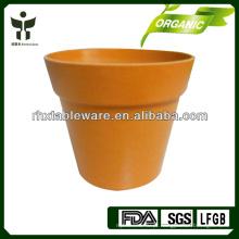 Vasos de flor biodegradáveis de fibra de bambu