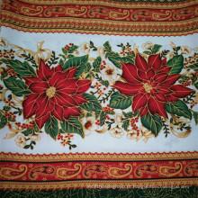 Poliéster Tela pano tecido / pano de mesa Mini tecido mate / tecido de pano de mesa impressa