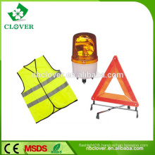Reflective safety vest and traffic warning triangle set