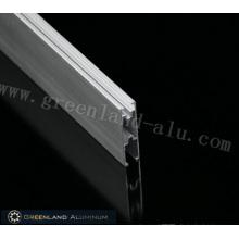 Нижняя направляющая серая алюминиевая для жалюзи