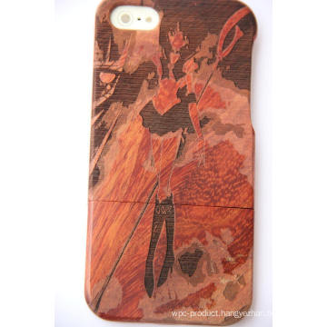 Luxury Natural Carved Wood Phone Case Cover for iPhone Plus