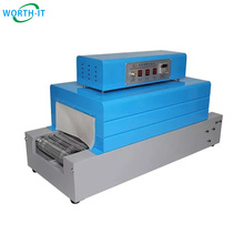 thermal shrink wrapping thermo shrinking machine for cosmetic bottle jar