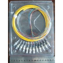 12 Core FC Fibra Óptica Pigtail