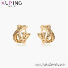 96909 xuping hoop plaqué or pas de pierre XP boucles d'oreilles pour les femmes
