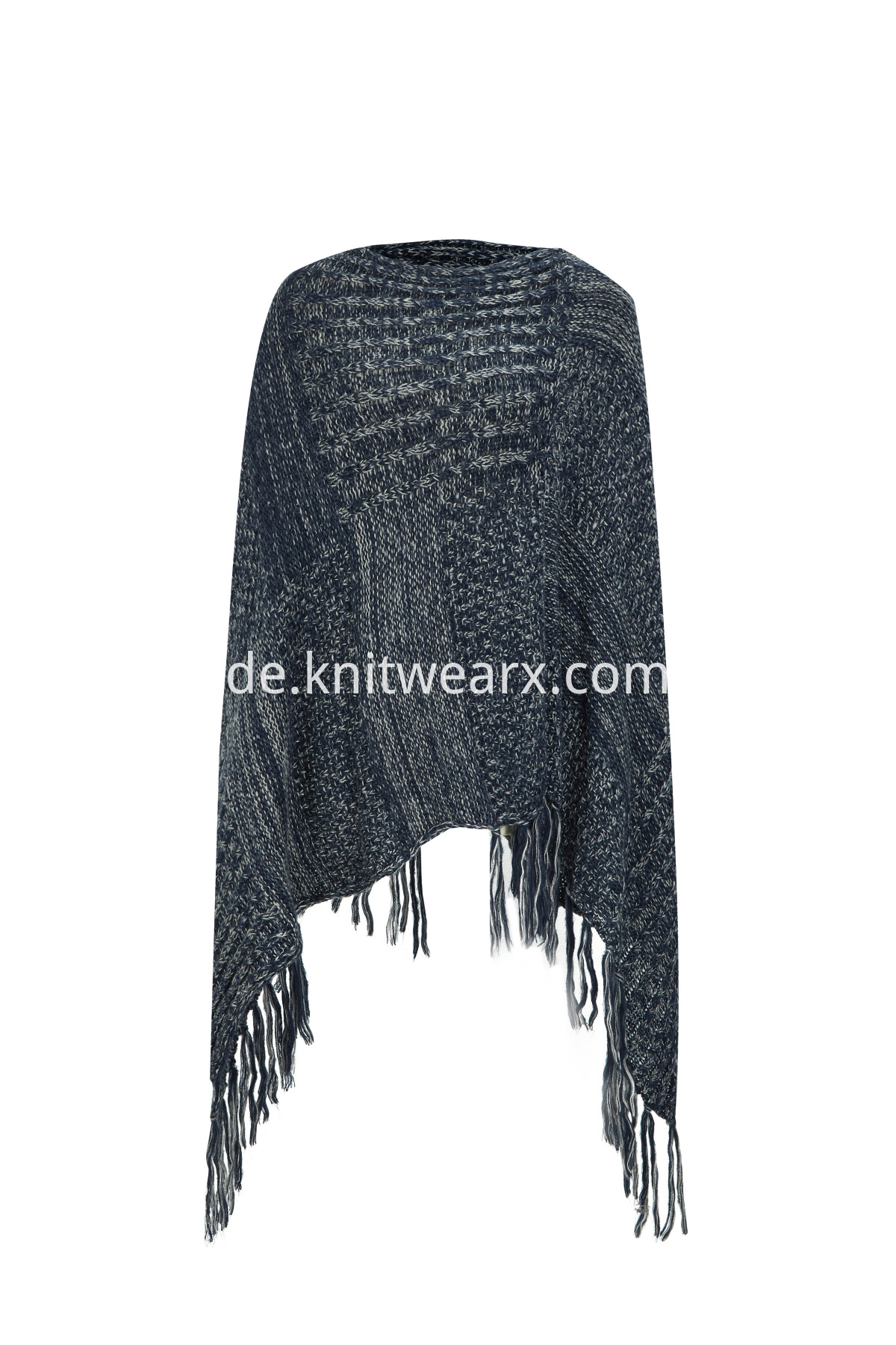 Women's Bohemian Shawl Poncho V-neck Knitted Sweater Cape