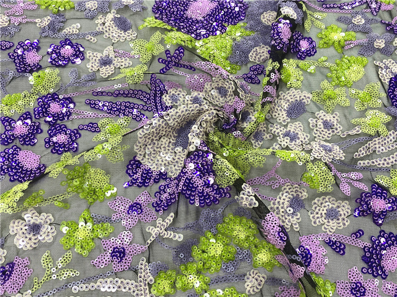 Sequin Emboridery Fabric