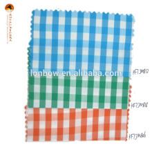 tecido de nylon do guingão do céu do algodão para a camisa clássica
