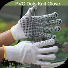 SRSAFETY 13G Струнные трикотажные нейлоновые перчатки из пвх, защитные перчатки, пунктирные.