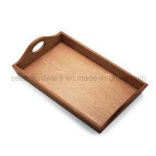 Rectangle forma de madeira de carvalho servindo bandeja (se061)