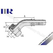 Raccord de tuyau hydraulique métrique 45 degrés Elow femelle (20441)