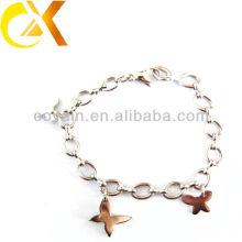 Brazaletes hermosos del diseño de la mariposa de la joyería del acero inoxidable para la muchacha