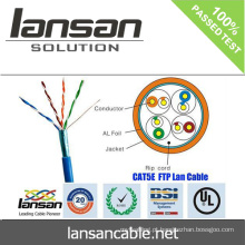 Lansan 4 pares cat5e ftp cabo de rede 24awg BC cabo 305m melhor preço lan cabo de boa qualidade