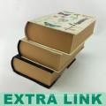 Multicolor Tinte und Wash Cover Design Vintage Buch geformt Papier Geschenkbox