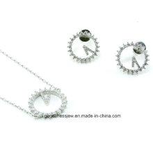 Party Wedding Silver 520 Bracelet Earring Set S3275