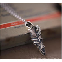 Cadena suéter colgante collar de plata de ley 925