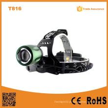T816 High Power LED farol Zoom ajustável Zoom Camping LED Farol