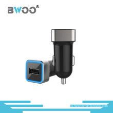 Aureola de alta calidad del metal del adaptador del coche del cable del USB para el cargador móvil