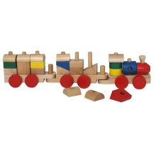 kids construction wooden block train toy