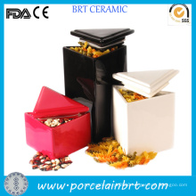 Modern Triangle Ceramic Container Candy Jar
