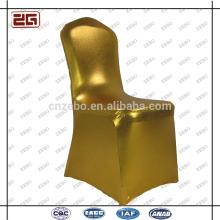 Populäre Mode Luxus Stretch Polyester Gold Custom Hochzeit Stuhl Abdeckungen