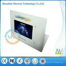 display de balcão com reprodutor de publicidade em lcd 7 polegadas