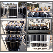40Liter 150bar nitrogen gas cylinder rack