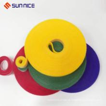 Baixo preço útil gancho loop de veludo cabo crochet wraps personalizado