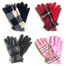 Леди мода проверено флис трикотажные зимние теплые перчатки (YKY5447)