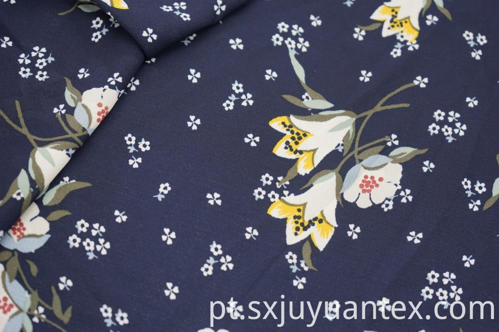 Polyester Lily Print Fabric